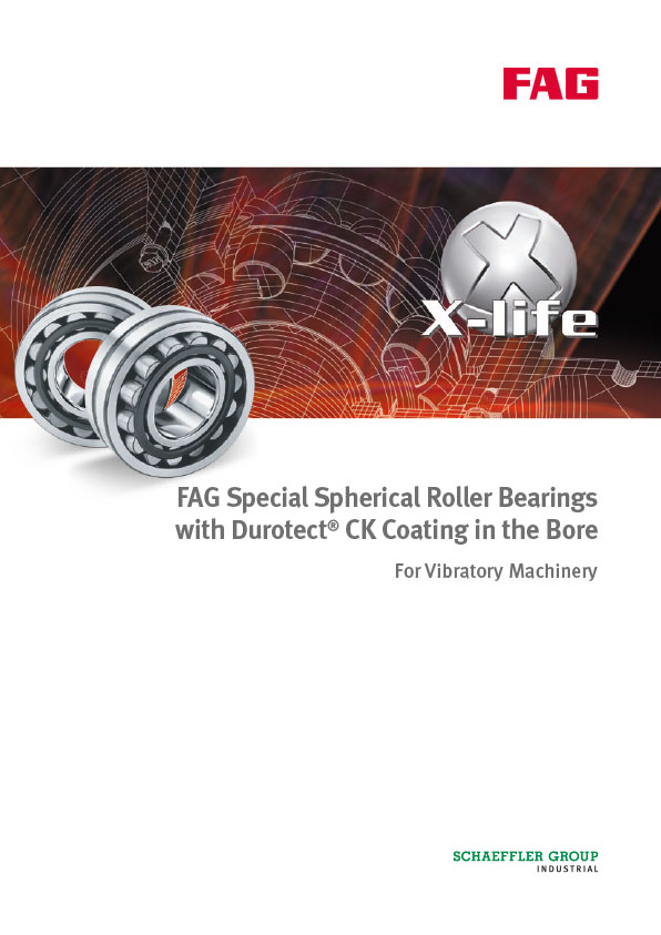 FAG Special Spherical Roller Bearings with Durotect CK Coating in the Bore