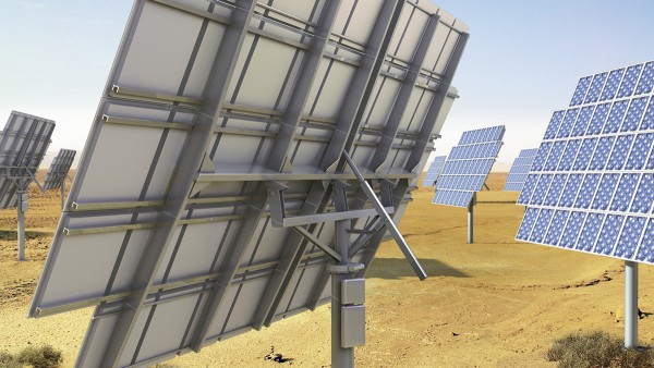 追跡システムを備えた太陽光発電所