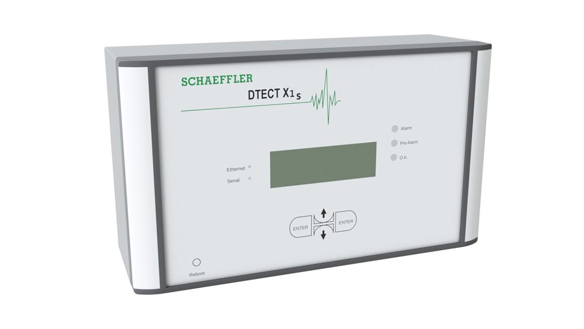FAG DTECTX1は、機械およびプラント産業における回転コンポーネントおよびエレメントの監視のためのフレキシブルなオンラインシステムです。