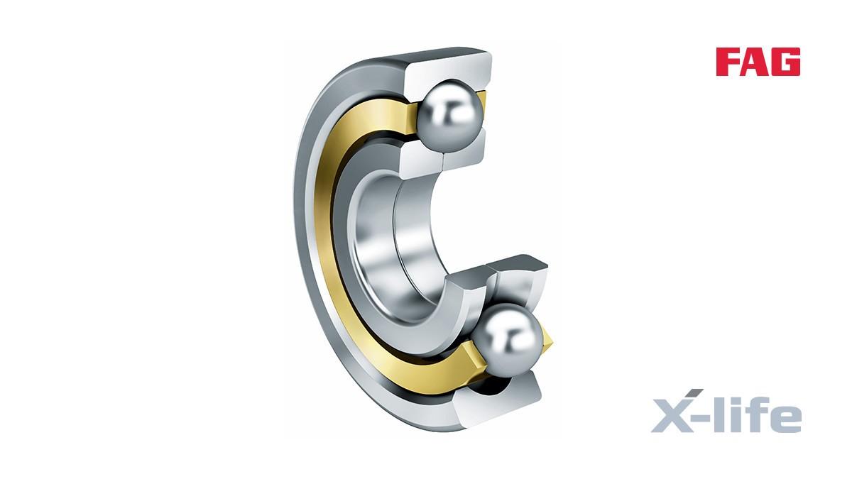 シェフラーのころがり軸受とすべり軸受:4点接触玉軸受